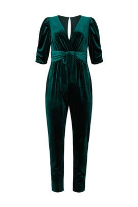 Jeanine Velvet Jumpsuit by Adelyn Rae