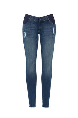 Blue Emma Maternity Low Rise Skinny Jeans by DL1961