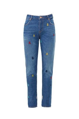 Petit Ami Alphabet Jeans by Scotch & Soda