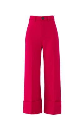 Fuchsia Wool Tradition Pants by Sea New York