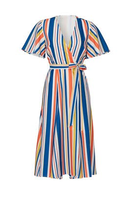 Riviera Stripe Wrap Dress by Slate & Willow