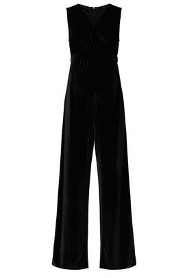 Velvet Maternity Jumpsuit by Ingrid & Isabel