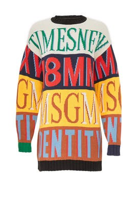 Striped MSGM Sweater Dress by MSGM