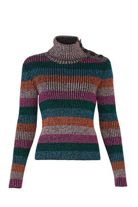 Multicolor Shiny Sweater by RED Valentino