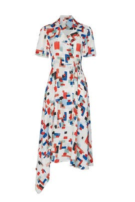 Short Sleeve Wrap Dress by Rosetta Getty