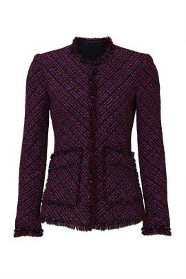 Plum Multi Tweed Jacket by Rebecca Taylor