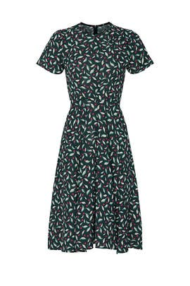 Leaf Printed Pleat Dress by Slate & Willow