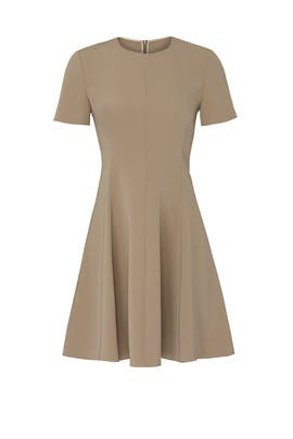 Khaki Paneled Dress by Theory