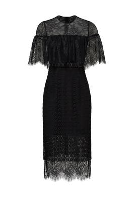 5c8ff24c0dd7 Black Sheer Popover Dress by Cynthia Rowley for $85 | Rent the Runway