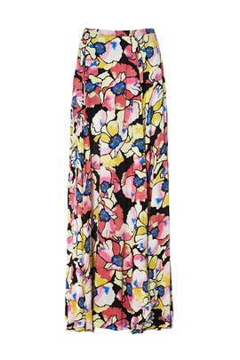Black Hot Tropics Maxi Skirt by Free People
