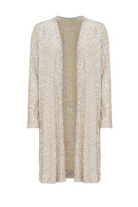 Gold Sequin Duster by Fifteen Twenty