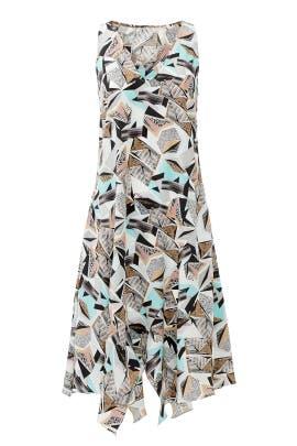 Geo Henley Dress by Hunter Bell