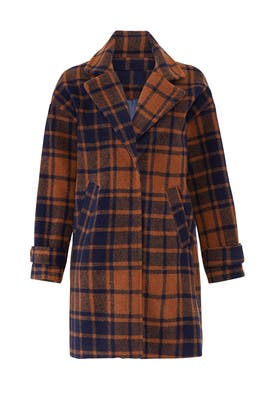 Plaid Kai Coat by HEARTLOOM