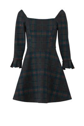 Plaid Wide Neck Dress by J.O.A.