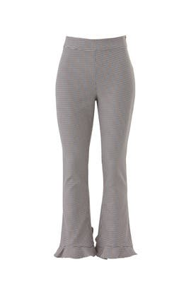 Houndstooth Circle Hem Pants by Opening Ceremony
