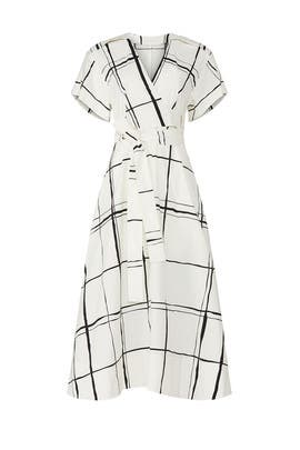 Painted Windowpane Crossover Dress by 3.1 Phillip Lim