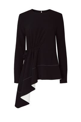 Black Asymmetrical Top by Proenza Schouler