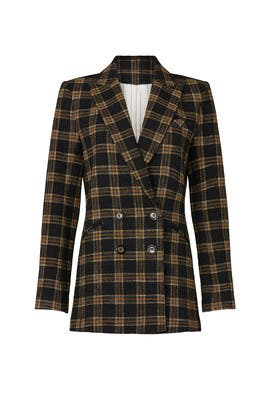 Oria Plaid Dickey Jacket by Veronica Beard