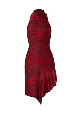 Red Cheongsam Dress by Josie Natori