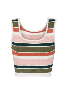 Open Air Stripe Crop Top by MINKPINK