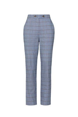 Windowpane Twill Pants by Rebecca Taylor