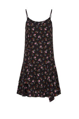 Black Watercolor Floral Dress by Thakoon Collective