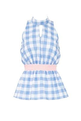 Blue Gingham Yael Top by Viva Aviva