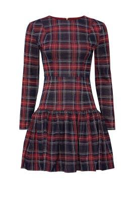 Plaid Drop Waist Dress by Alexia Admor