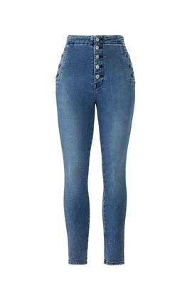 Natasha High Crop Skinny Jeans by J BRAND