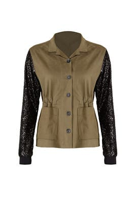 Sequin Army Jacket by JET John Eshaya