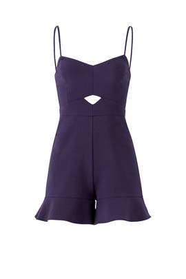 Navy Calhoun Romper by LIKELY