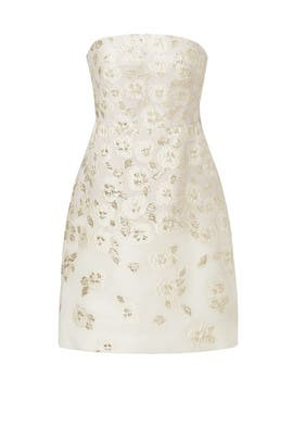 e9ba520002c White Floral Flounce Back Dress by Lela Rose for  599