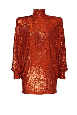 Copper Sequin Dress by NAEEM KHAN