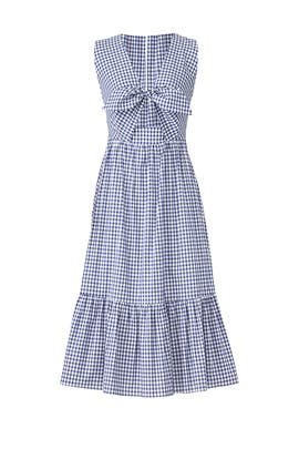 Gingham Tie Gilroy Dress by Shoshanna