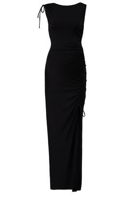 Gathered Slit Maternity Maxi by Susana Monaco