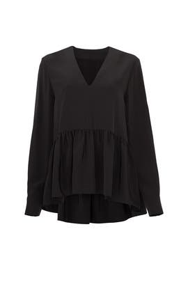 Black Peplum Top by Tibi