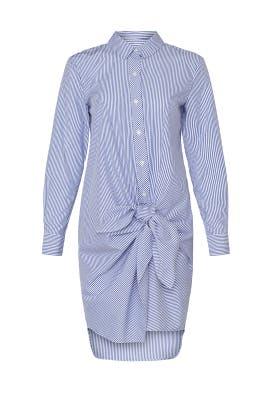 Blue Stripe Tie Waist Shirtdress by Thakoon Collective
