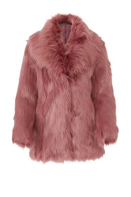 Premium Rose Faux Fur Coat by Unreal Fur