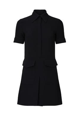 Short Sleeve Pocket Dress by Victoria Victoria Beckham