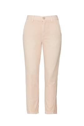 Pale Pink Slouch Trousers by AMO