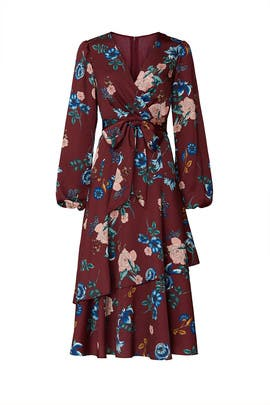 Floral Tiered Wrap Dress by Great Jones