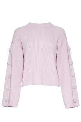 Faux Fur Button Sweater by Milly