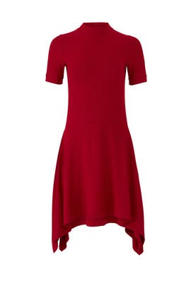 Red Ribbed Dress by Susana Monaco