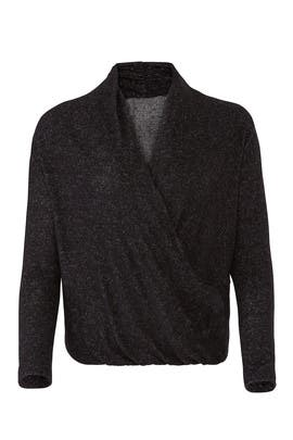 Slate & Willow Brushed Knit Crossover Top