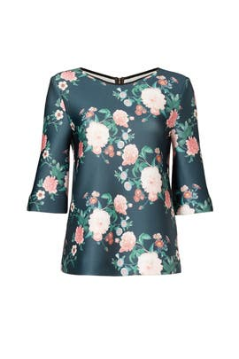 Dark Floral Top by ERIN erin fetherston