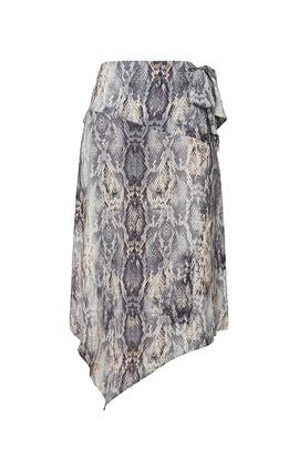 Snake Print Wrap Skirt by krisa