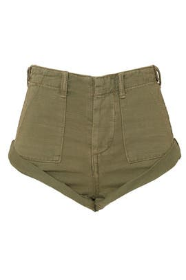 Militaire Bandits Denim Shorts by One Teaspoon