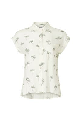 Whitney Palm Printed Blouse by Rails