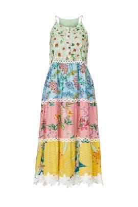 Mixed Floral Halter Dress by FARM Rio