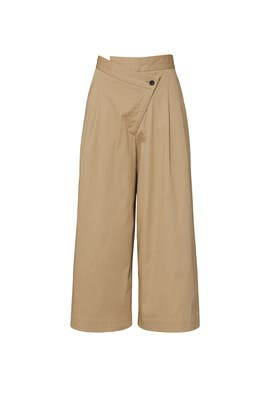 Pleated Front Culottes by MONSE